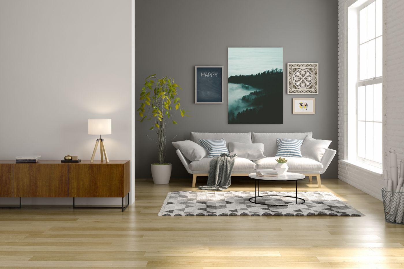 Bild über Dem Sofa Hängen Es Kommt Nicht Nur Auf Die