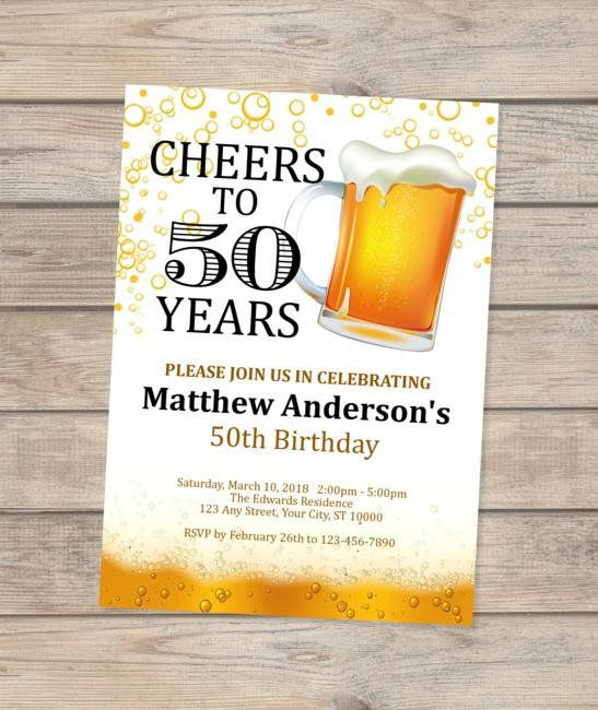 50th birthday invitation cheers and beer invitation 50th pinterest 50th birthday invitation cheers and beer invitation 50th stopboris Gallery