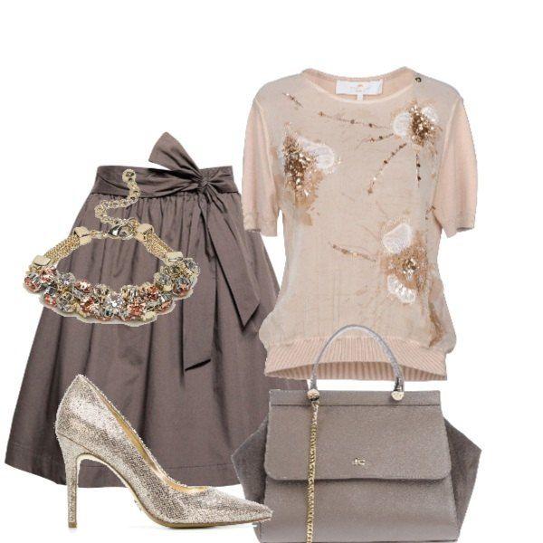 3644522af217 Scarpette dorate alla cerimonia Guardaroba Da Lavoro, Abbigliamento  Business, Moda Da Donna, Set