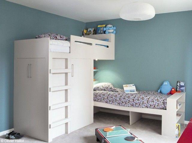 Chambre deux garcons bleu blanc | léandre | Pinterest | Chambres ...