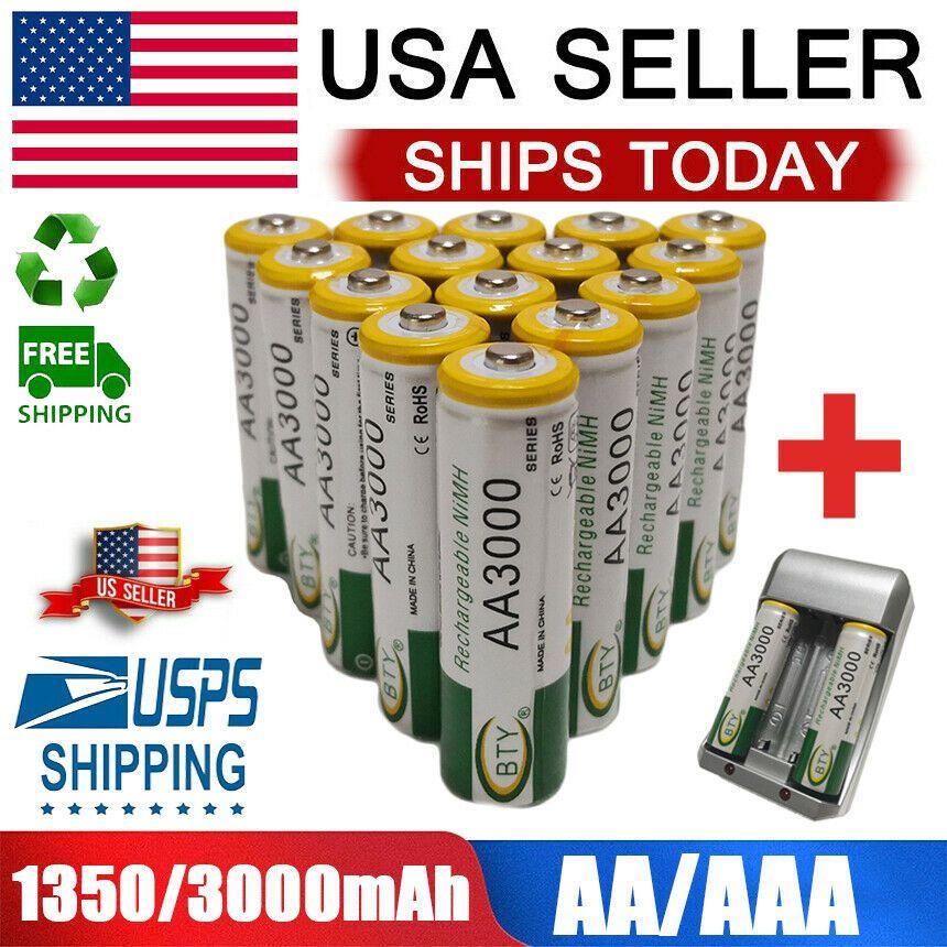 Aa Aaa Battery Rechargeable 3000 1350mah For Led Flashlight 4 100pcs 1 2v Lot Https Uxshops Com P 70897 Led Flashlight Flashlight Aaa Batteries
