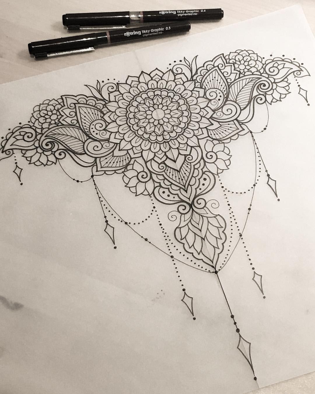 """Gefällt 769 Mal, 10 Kommentare - Dominique Holmes (@domholmestattoo) auf Instagram: """"Decorative piece for Tasha #art #design #penandink #handdrawn #sketch #instafineliner #mehndi…"""""""