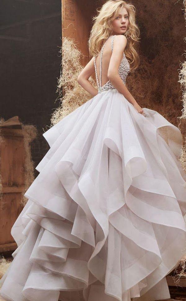 Backless Hayley Paige wedding dress | The Wedding Scoop Spotlight: Sexy Wedding Dresses http://www.theweddingscoop.com/entry/the-wedding-scoop-spotlight-sexy-wedding-dresses