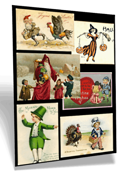 victorian holiday clip art children christmas easter new year santa claus