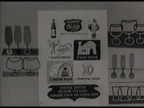"Old Style Lager beer commercial ""The Little Professor"" #1, circa 1950s  Black and white cartoon commercial for Heileman's OId Style Lager beer featuring the once iconic Little Professor"" character."