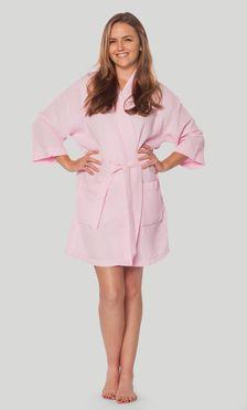 5c1355a83a Economy Bathrobes    Thigh Length Waffle - Wholesale bathrobes