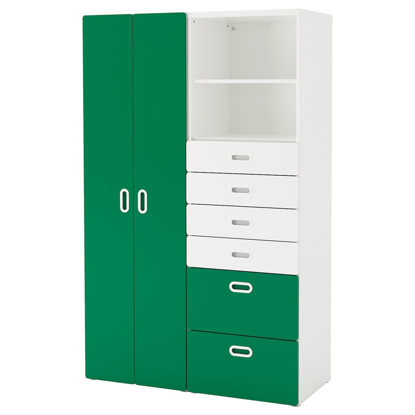 STUVA / FRITIDS Kleiderschrank weiß, grün Kleiderschrank
