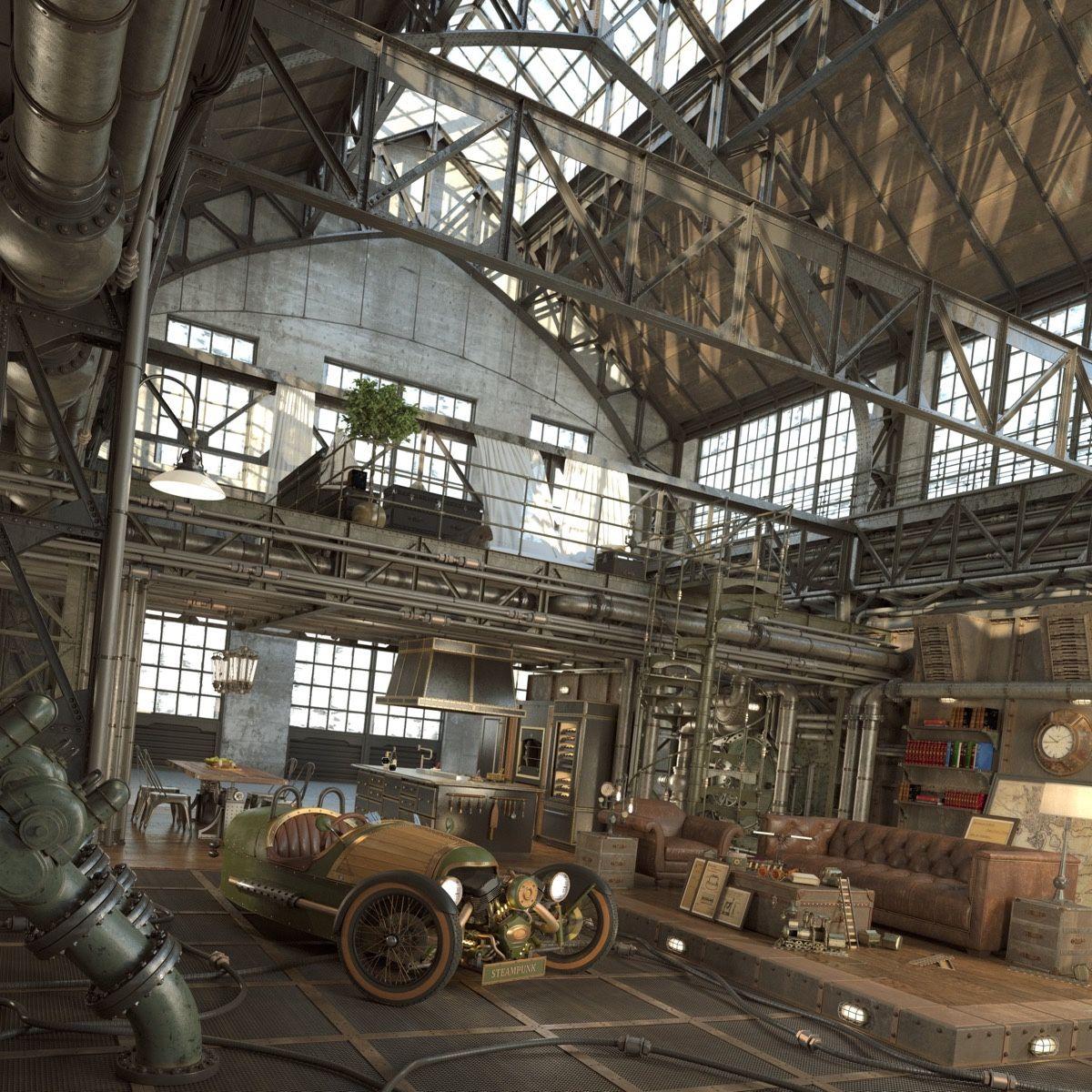 Industrial Loft: 40 Loft Living Spaces That Will Blow Your Mind