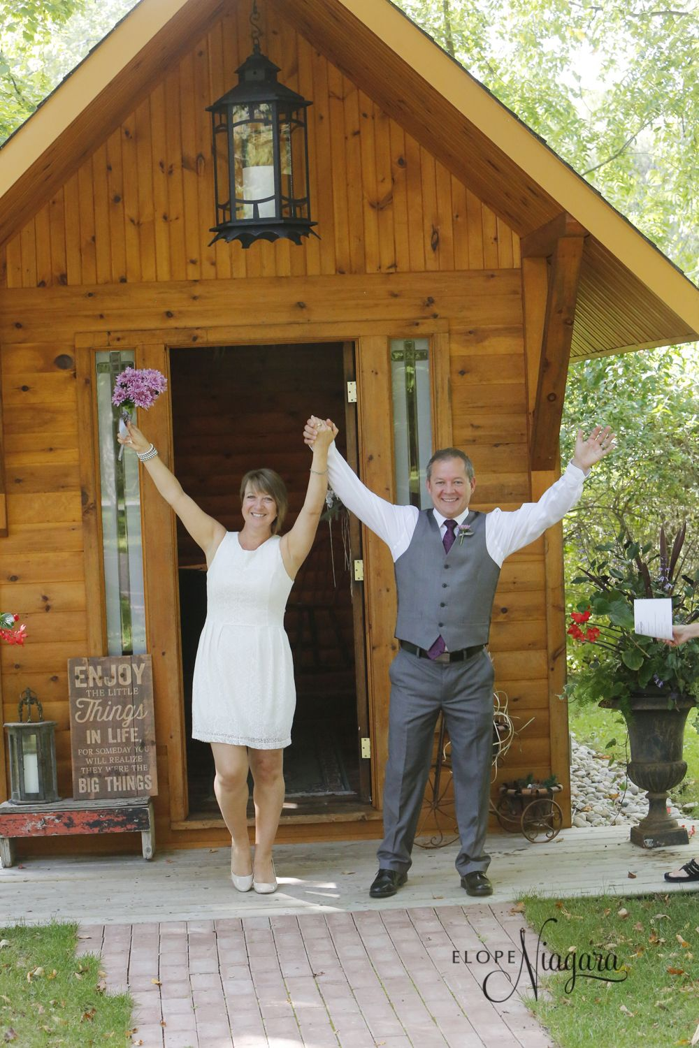 We Did It At The Little Log Wedding Chapel In Niagara