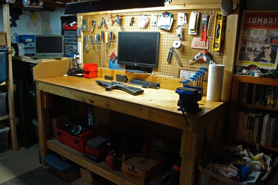 Reloading Gunsmith Room Built In Bench Ideas