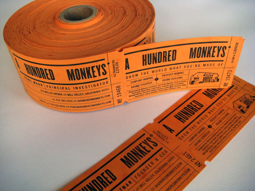Business Cards on a Roll! French, Durotone, Butcher Orange ...