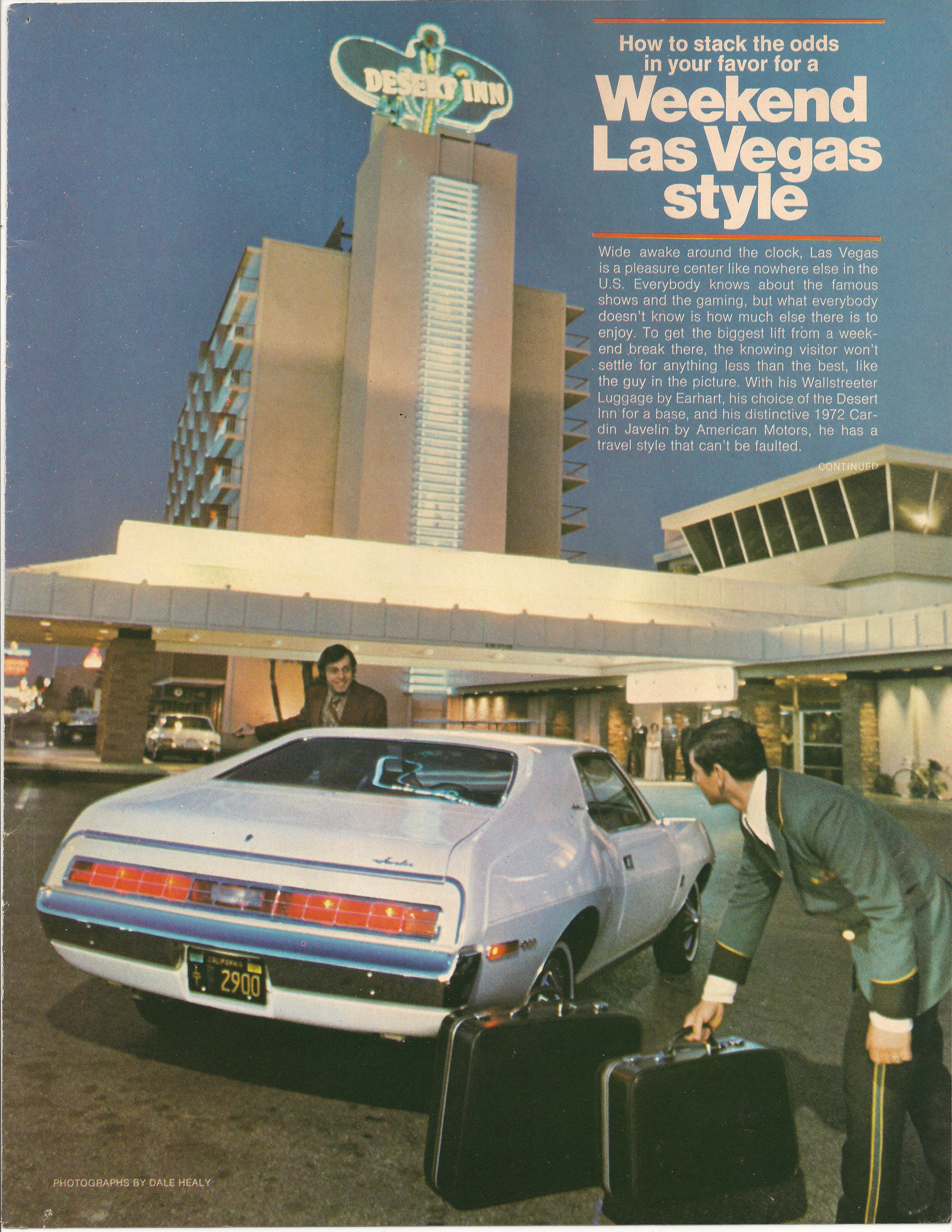 1972 AMC Javelin - Pierre Cardin edition - Las Vegas tourism ad ...