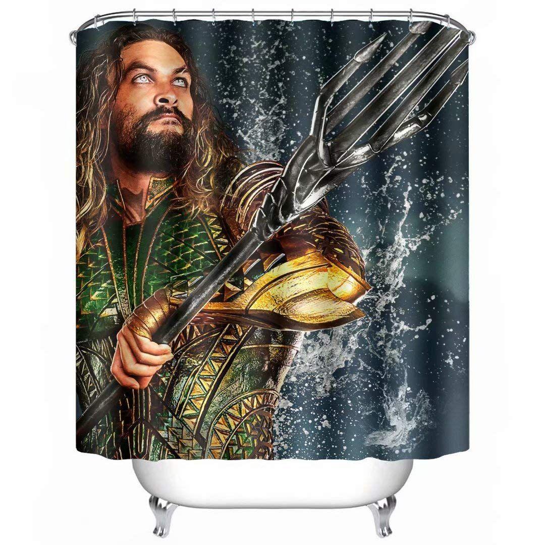 Aquaman Shower Curtain Bathroom Decor In 2020 Shower Curtain