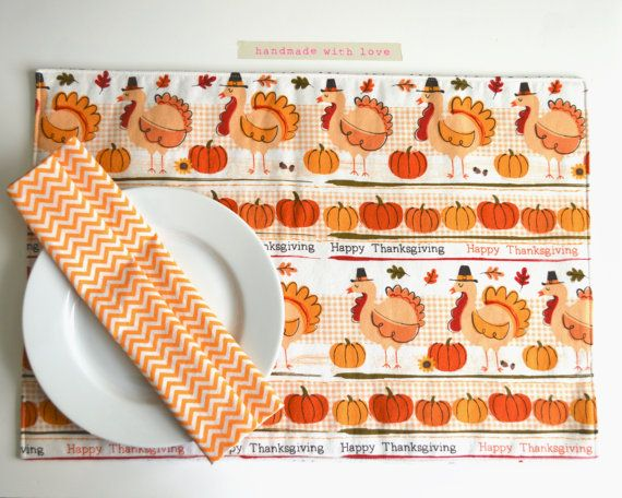 Thanksgiving Placemat Reversible Place Mat By Textiletrolley 12 00 Thanksgiving Happy Thanksgiving Placemats