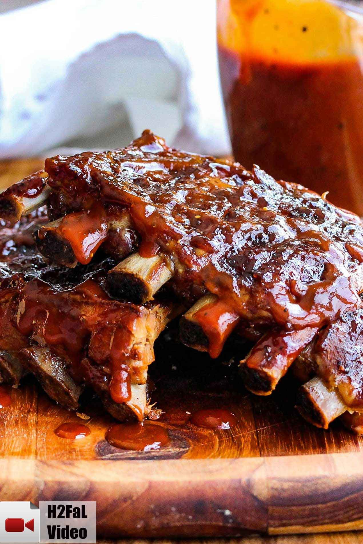 Incredible Slow Cooker Baby Back Ribs Recipe Pork Rib Recipes Bbq Sauce Homemade Easy Slow Cooker Ribs Recipe