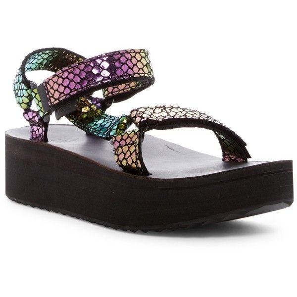 2c6a4e3ad8f Teva Universal Flatform Iridescent Platform Sandal ( 45) ❤ liked on  Polyvore featuring shoes