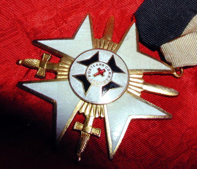 Old Masonic Knights Of Malta Cross Enamel Symbols Jewel Crosses