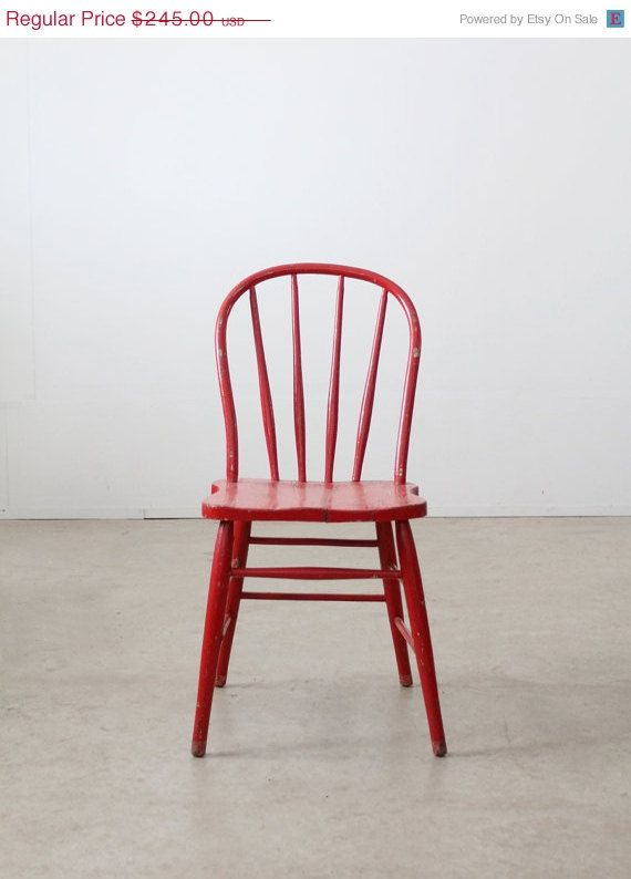 reserve vintage wood spindle chair red painted chair decor misc rh pinterest com