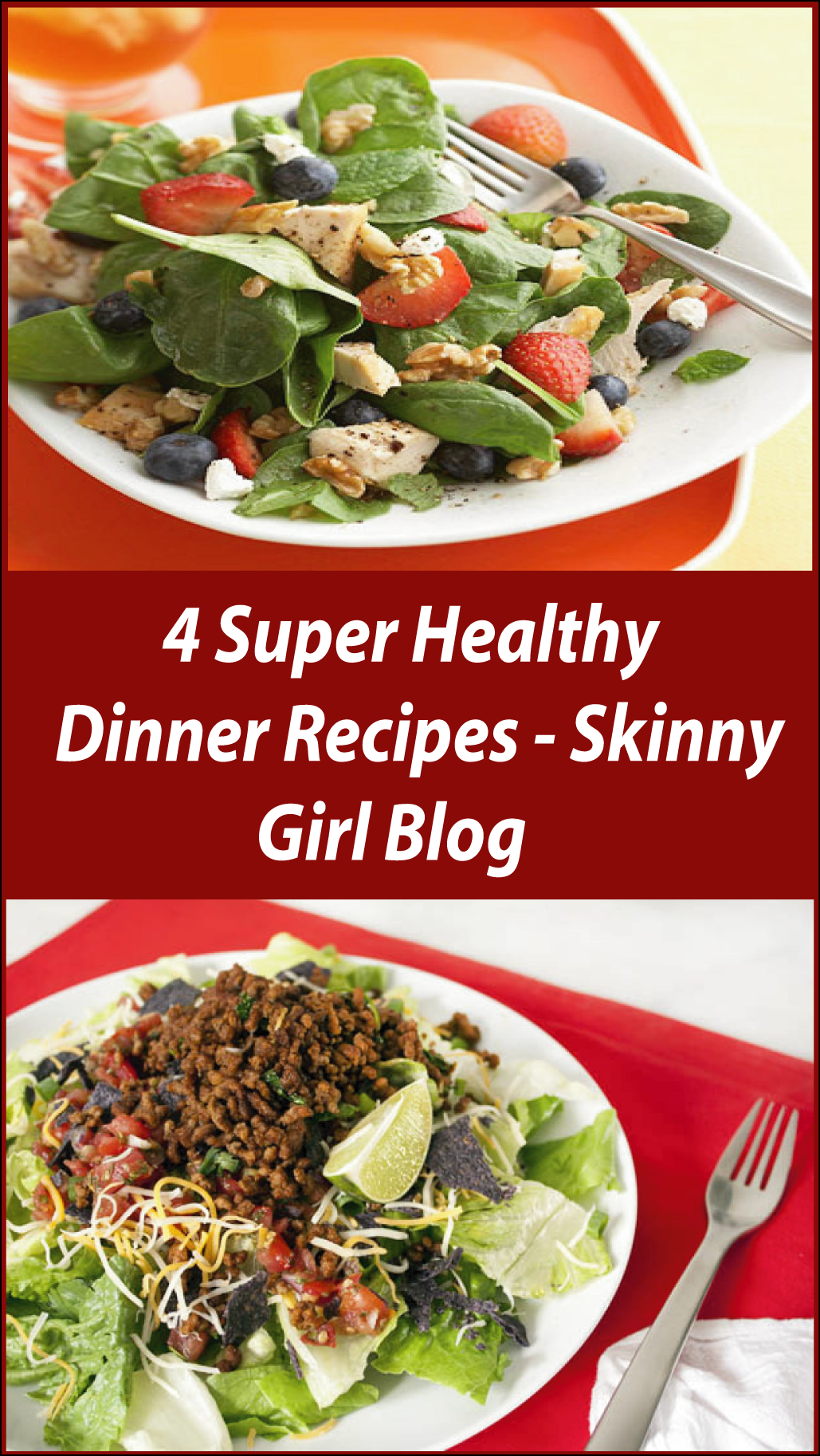 Eating healthy foods does not like you are sacrificing the test! Today I Discover 4 Super Healthy Dinner Recipes for your special dinner time!