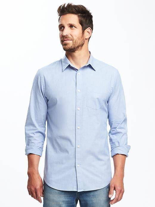 Old Navy Slim-Fit Built-In Flex Classic Shirt for Men  b45a0f08b