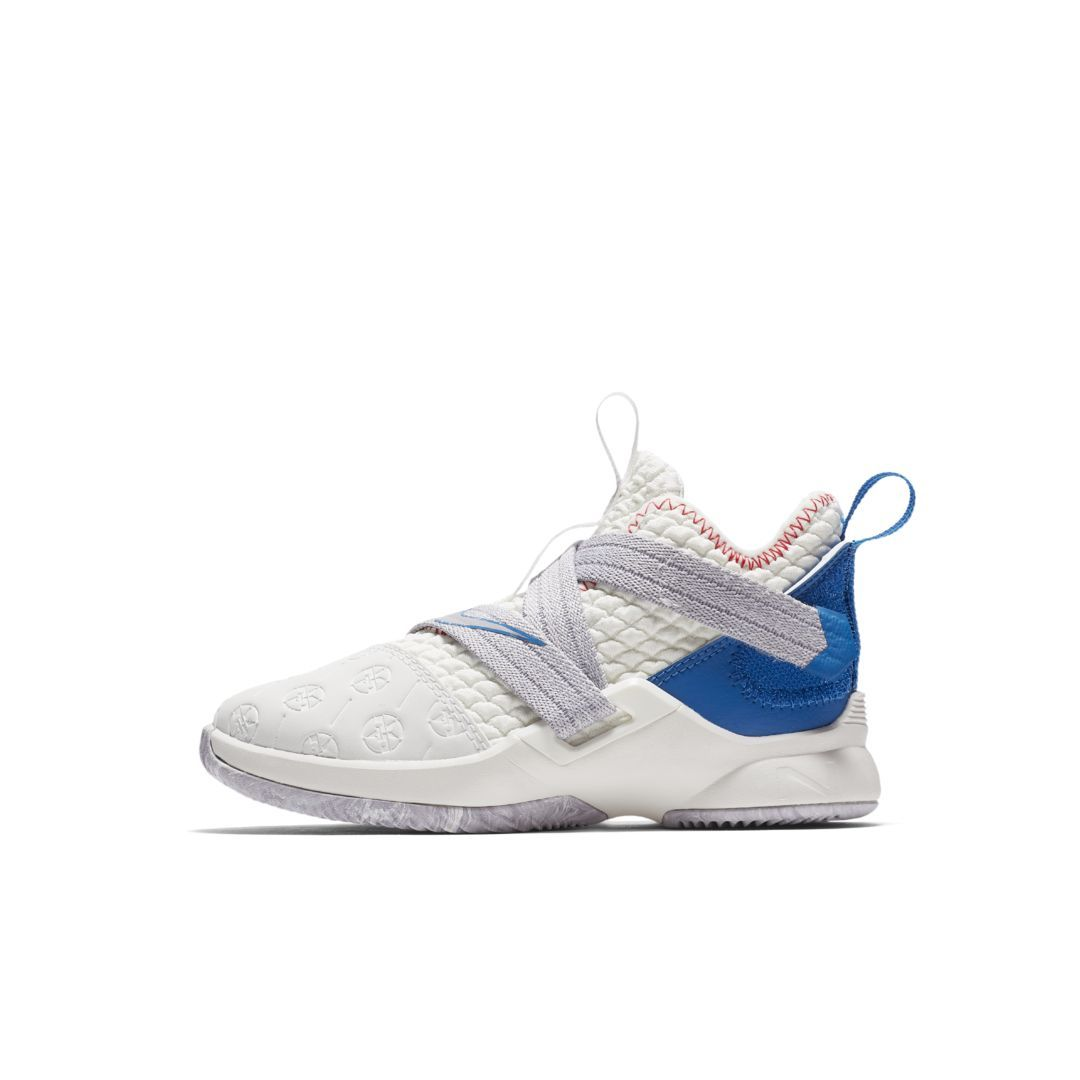 a54dfb1a4bc5 LeBron Soldier 12 Little Kids  Shoe Size 2.5Y (Summit White ...
