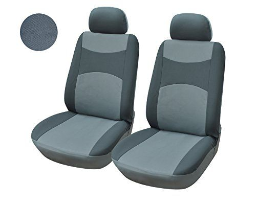 116002 Grey Fabric 2 Front Car Seat Covers Compatible To Ford
