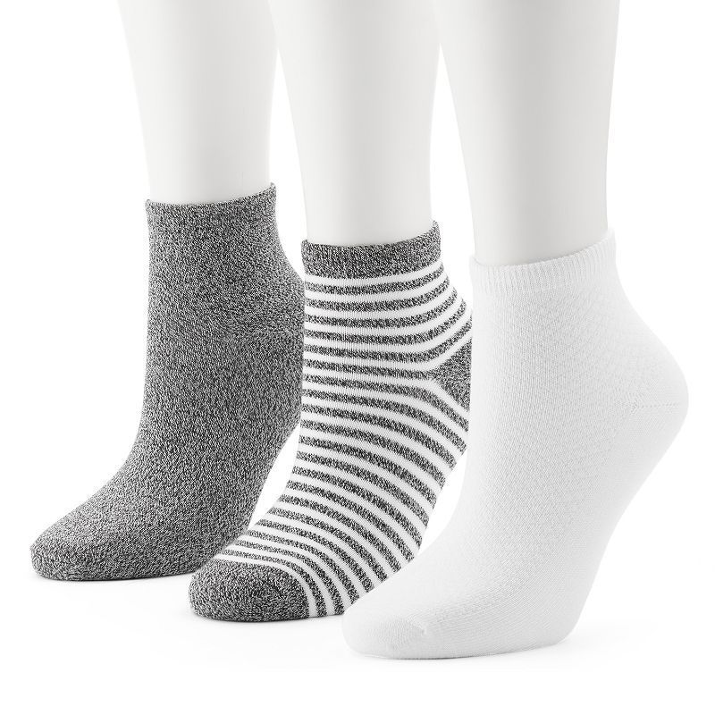 3e1e3eb28 Women s Cuddl Duds 3-pk. Twisted Ankle Socks