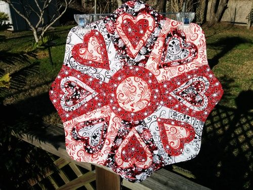 Red & Black Valentine Table Topper