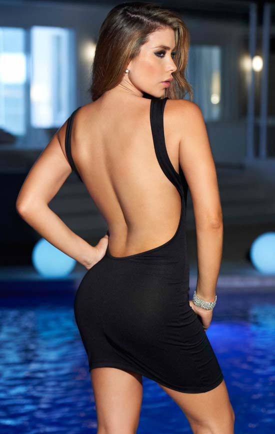 Ultra Low Back Dress