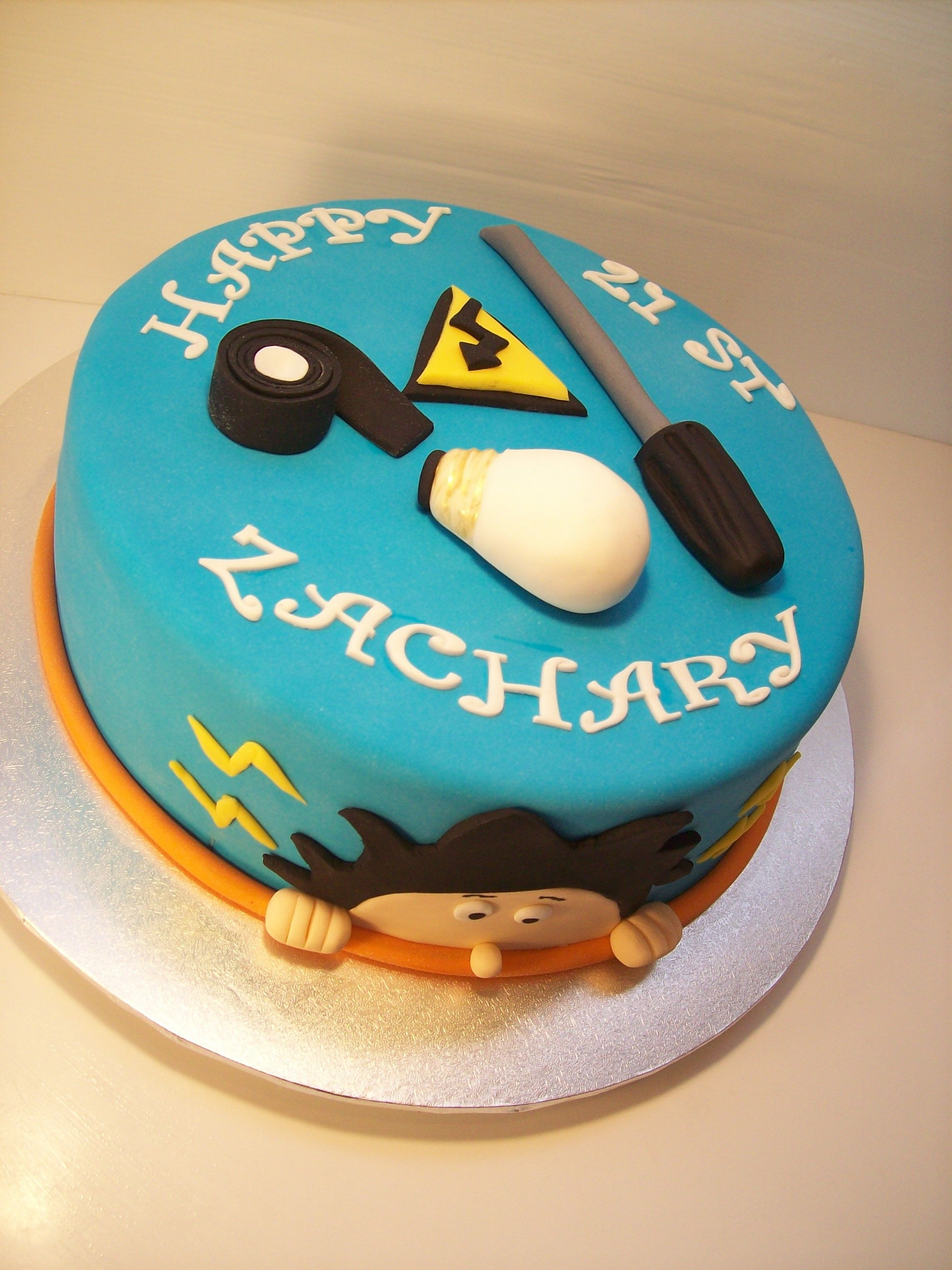 Electrician themed Cake Auckland 199 hubby s bday Pinterest