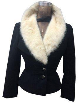 Simmonds #VintageBlazer fur collar Jacket Black Blazer #mink #vintage #minkfurcollar #vintagefur $149 #minkcollar #vintagemink #womensfashion #fashion