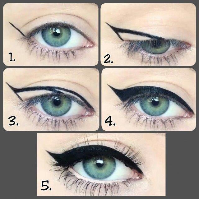 The Cat Eye Made Easy Cat Eye Makeup Vintage Makeup Looks Cat Eye Tutorial