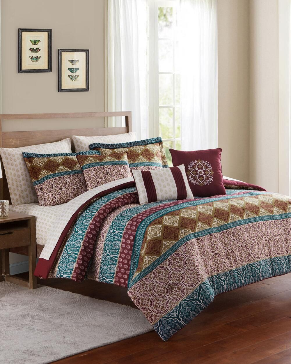 Discount Beds In A Bag King Queen Full Sizes Stein Mart Comforter Sets Bed Comforter Sets Luxury Bedding Sets Bed in a bag sale