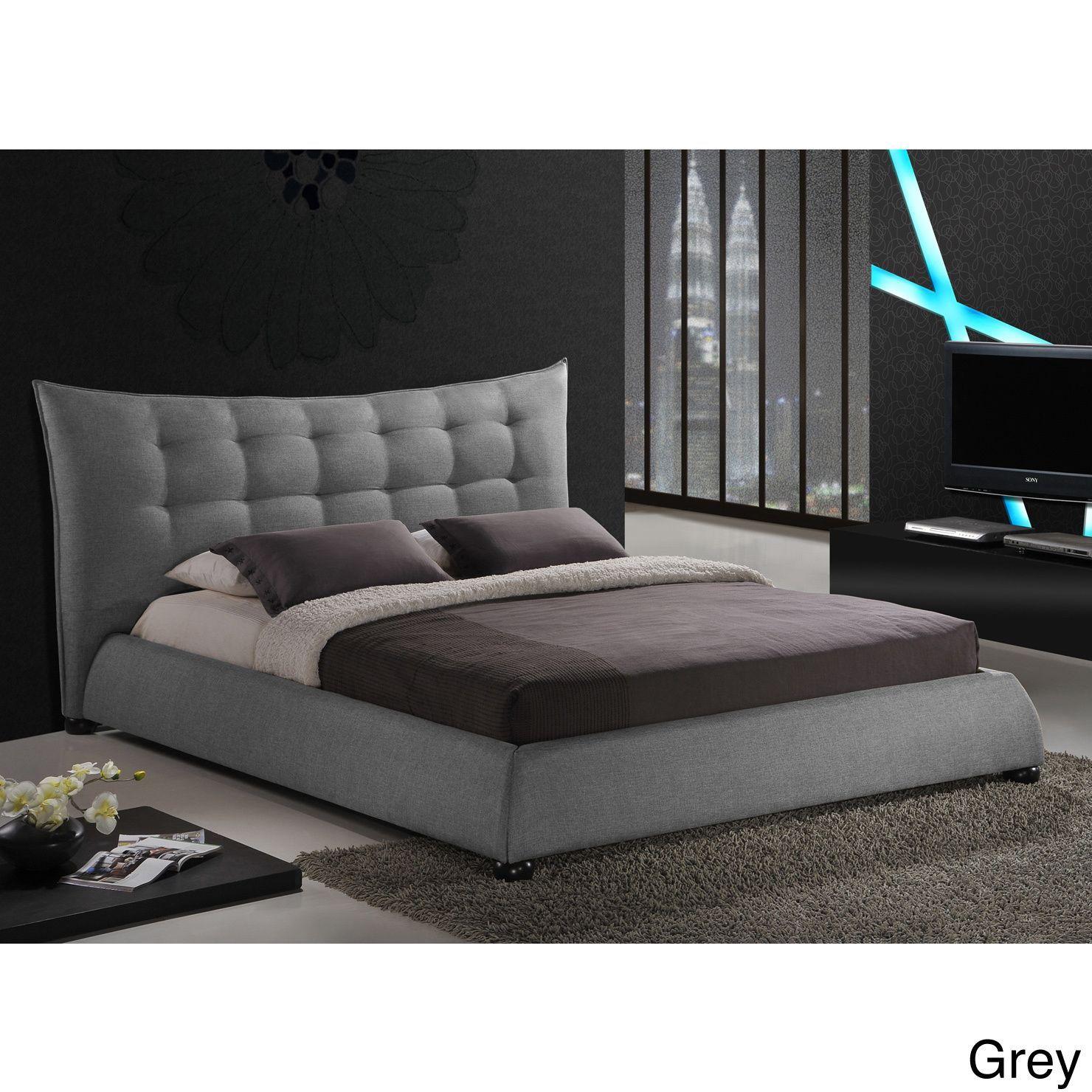 Baxton Studio Marguerite Linen Platform Bed (