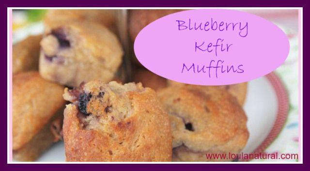 blueberry kefir muffins Loula Natural