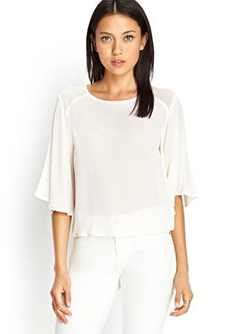 Bell Sleeve Georgette Blouse Forever 21 2000068325 My Style