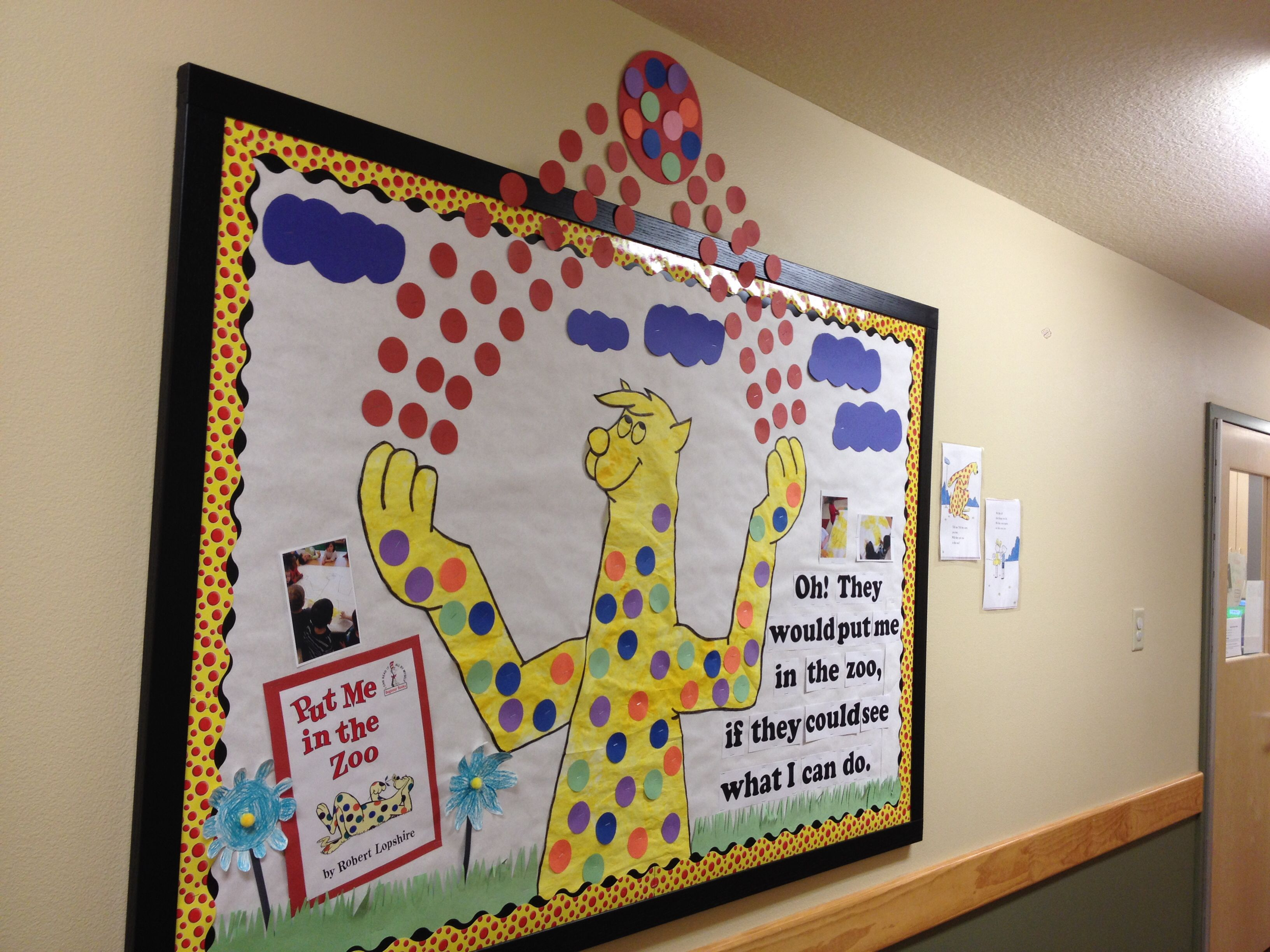 Dr Seuss Birthday Put Me In The Zoo Bulletin Board