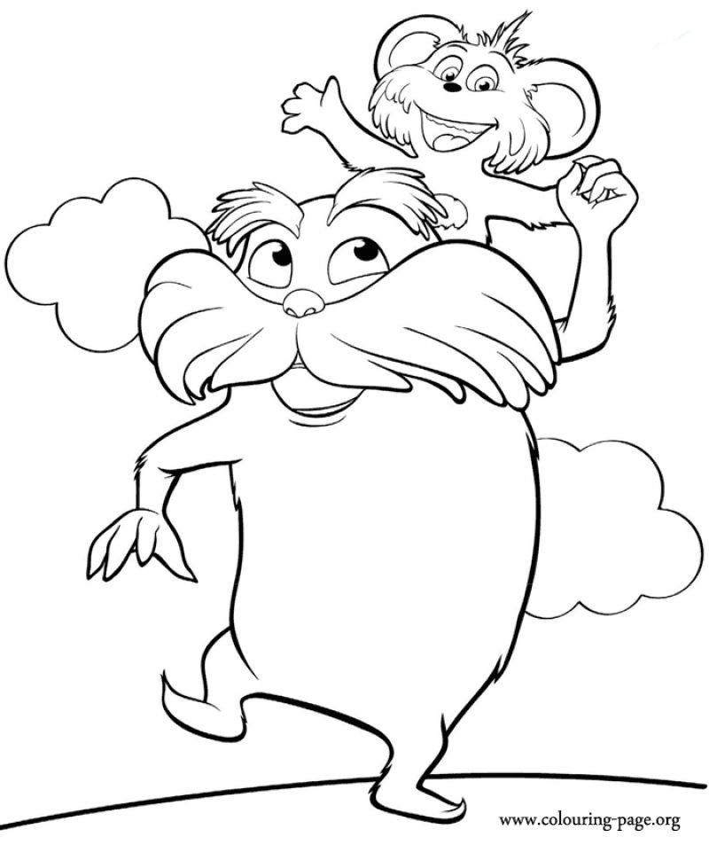 The Lorax Coloring Pages For Free