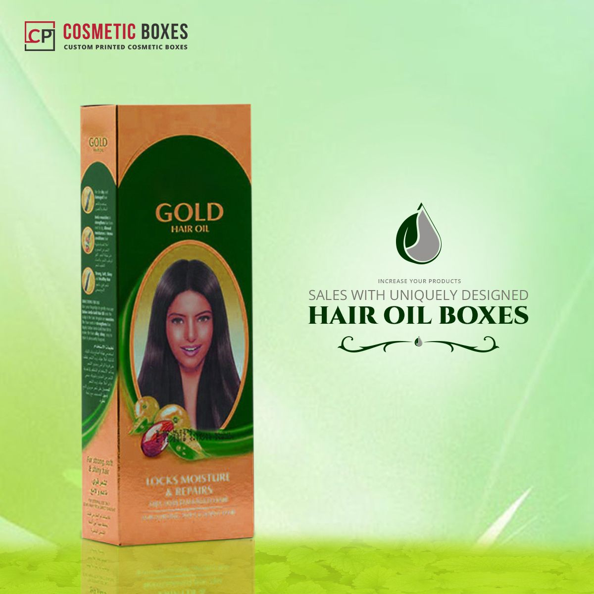 Protect Your Oils From Unhygienic Factors Using Sturdy Custom Printed Hair Oil Packaging Boxes Ha Hair Oil Custom Printed Boxes Packaging Labels Design