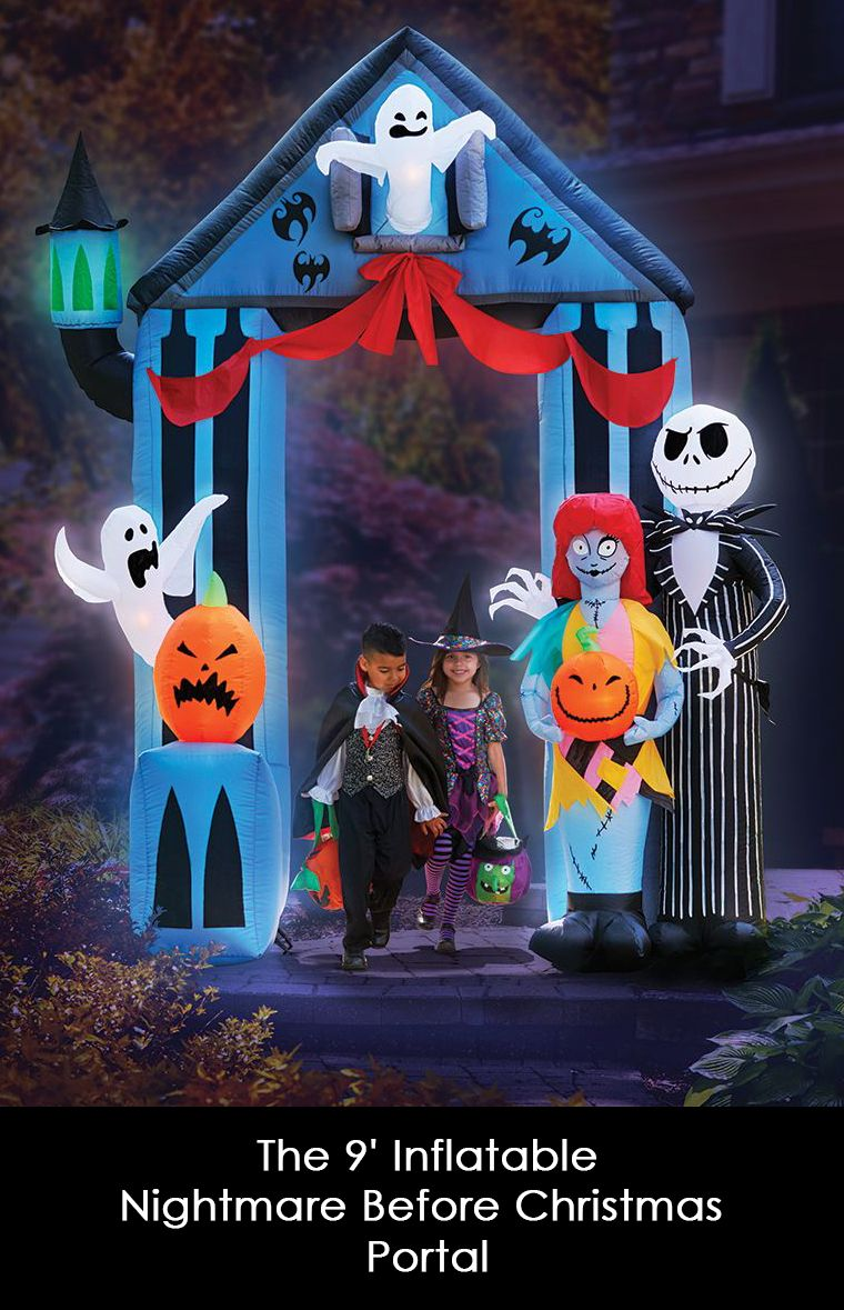 this 9 inflatable entryway invites treat seekers to enter halloween