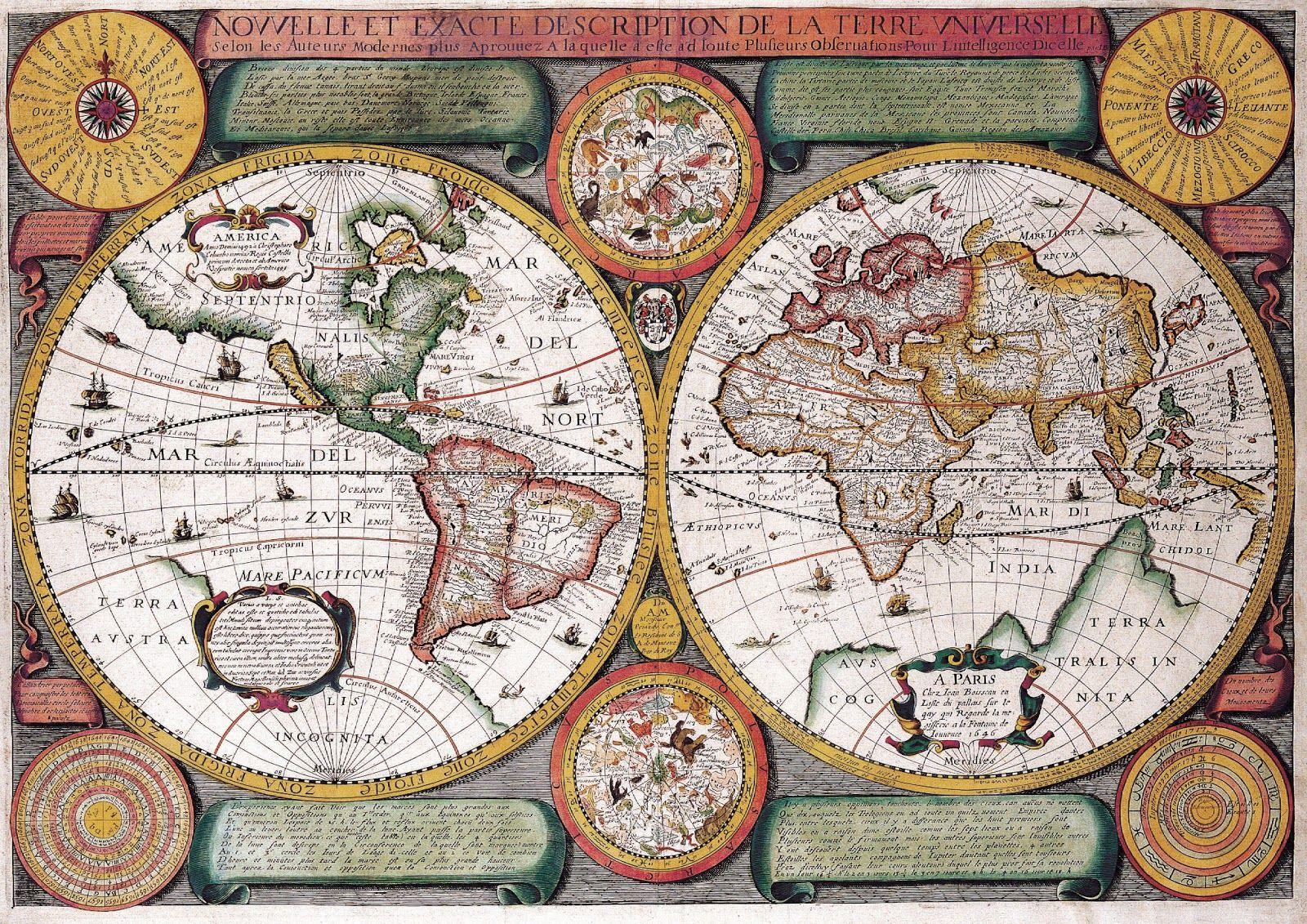 L'art magique: Cartes du monde au XVIIème siècle | ₳rt 1600 1699
