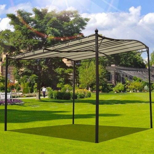 Buy Garden Metal Wall Gazebo Awning Shelter Door Porch 3m X