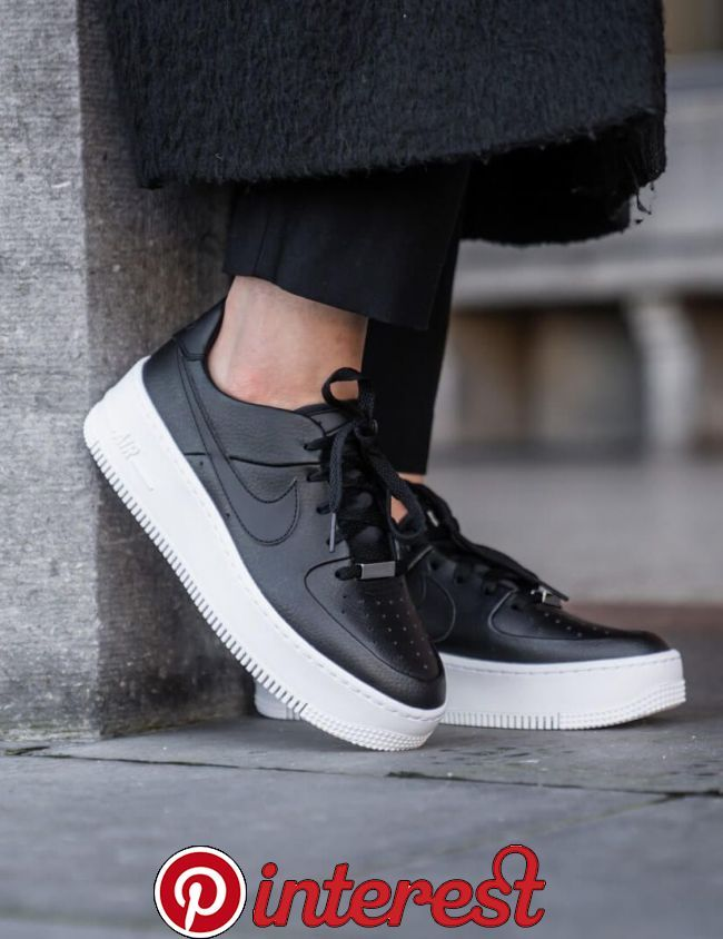 Nike Air Force 1 Sage Low Black/Black-White sneakers ...