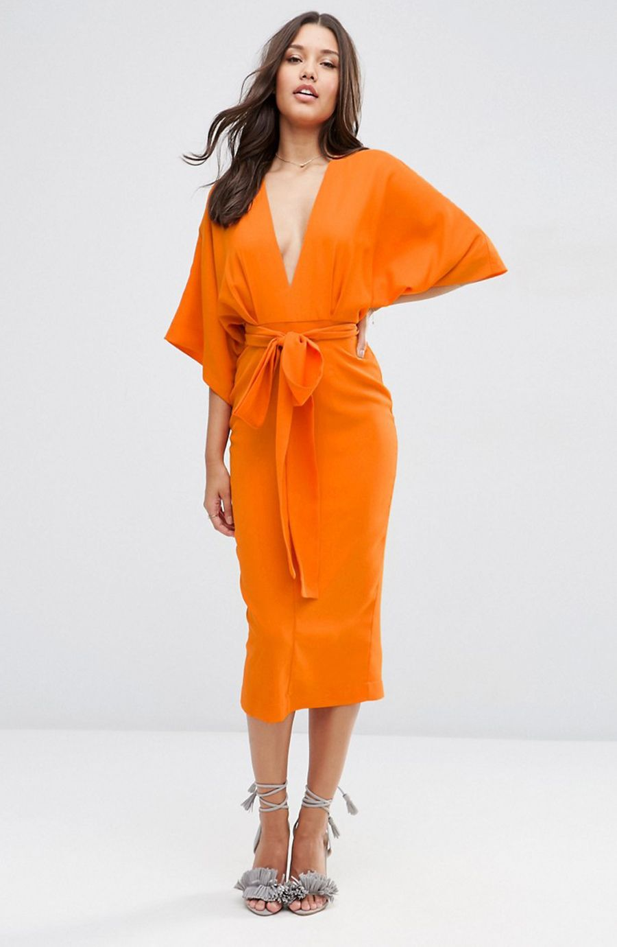 Which cocktail dress drink pairing is your dream match asos asos kimono deep plunge midi dress httpstylemepretty ombrellifo Choice Image