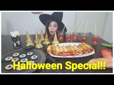 DIY - Bibi Halloween Special! 4 griezel snacks / snoep (Nederlands) - YouTube