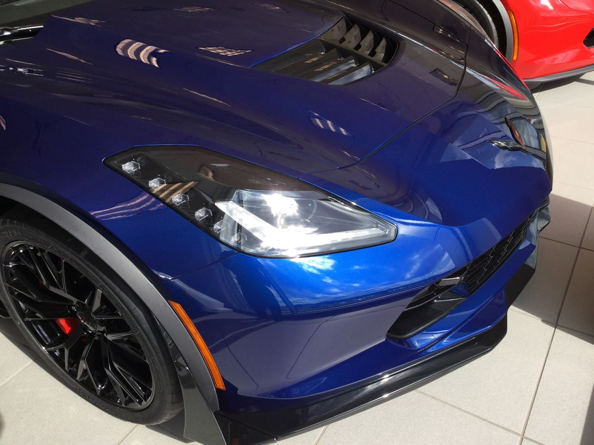 2016 Corvette Z06 With Admiral Blue Metallic Paint Dark Gray Leather Interior 3lz Trim Package Carbon Fiber Roof Chevrolet Corvette C7 Corvette Corvette Z06