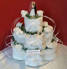 Hochzeitstorte Toilettenpapiertorte Geldgeschenk 3
