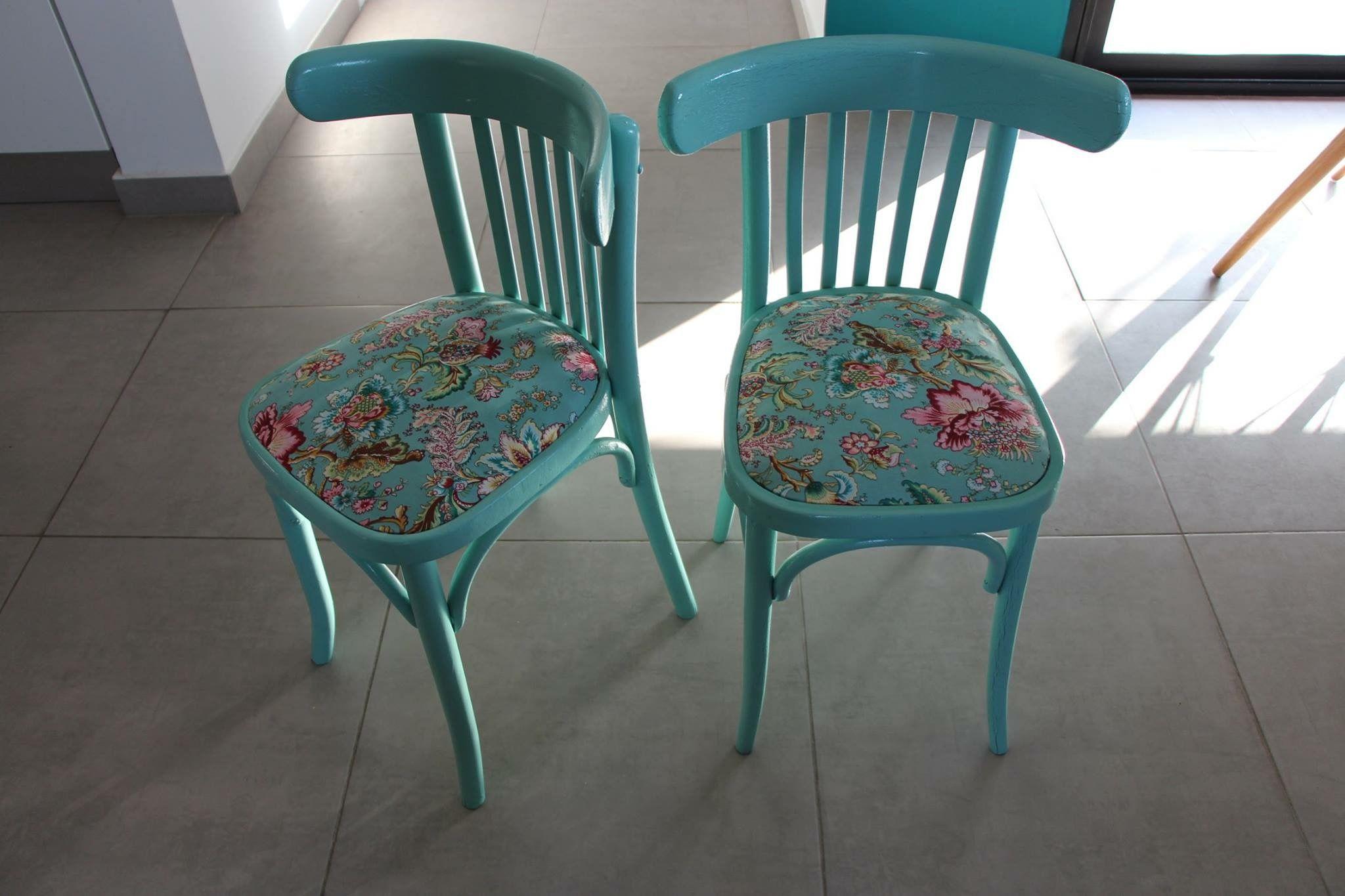 Chaise bistrot mint tendance fraicheur été diy handmade