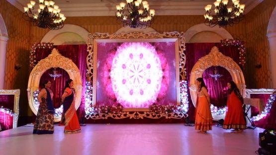 Sangeet Stage Option 1 With Led Backdrop Theme Designing Weddingplanning In Goa Indian Bridal