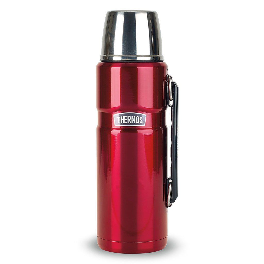 Thermos Cranberry Stainless King Beverage Bottle - 40 oz.
